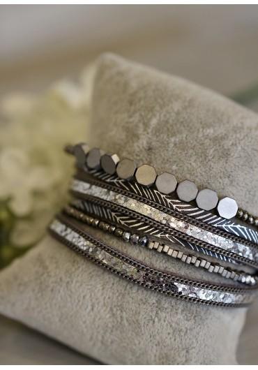 Multi wrap around bracelet with beads