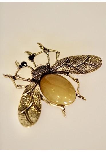 Giant mustard bug brooch