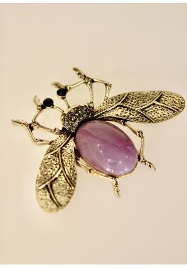 Giant purple bug brooch